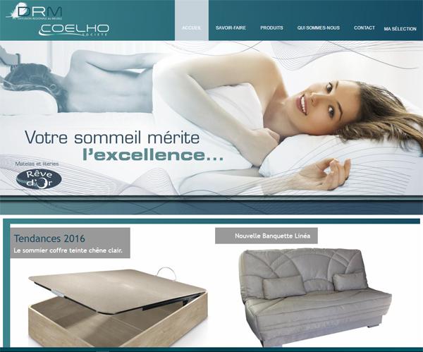 le site internet Coelho est un site e-commerce en activité depuis 2010